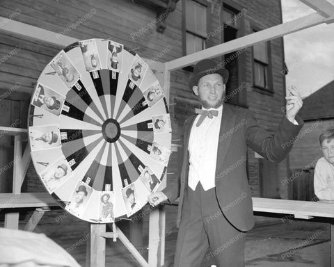 Gaming Roulette Wheel 1944 Vintage 8x10 Reprint Of Old Photo