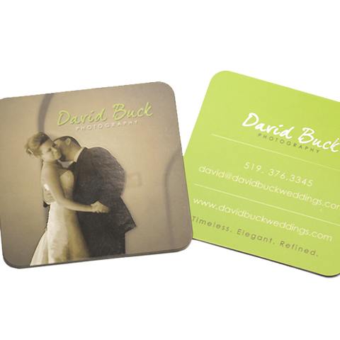 David Buck Photography business card design