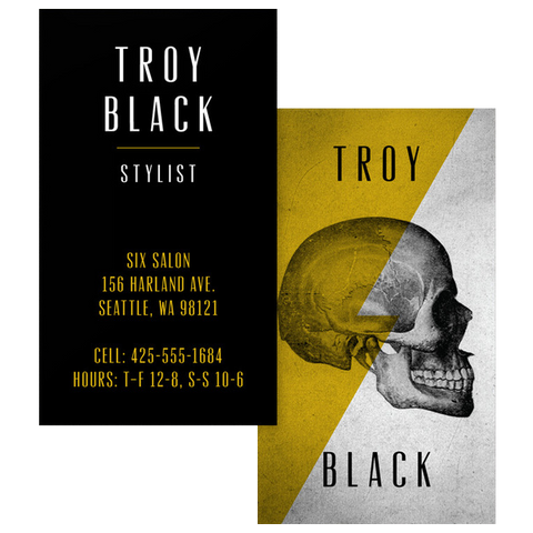 Edgy Stylist Business Card Template