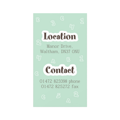 graphic daycare business card template graphic daycare business card template