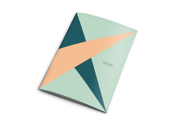 Shape Teal Notebook- Sarah Ziegler