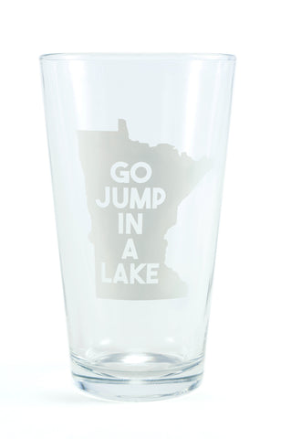 Pint Glass- Jump in a Lake