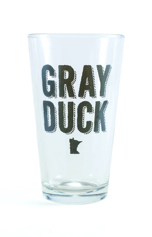 Pint Glass- GRAY DUCK