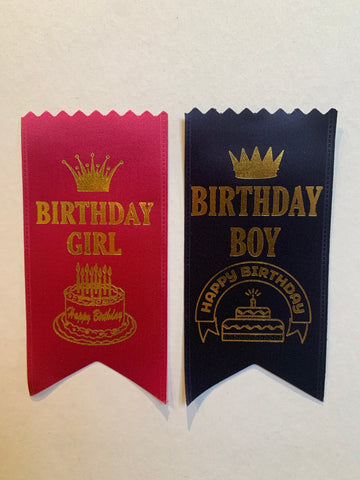 "Birthday Girl/Boy -2""x4"" Ribbon"