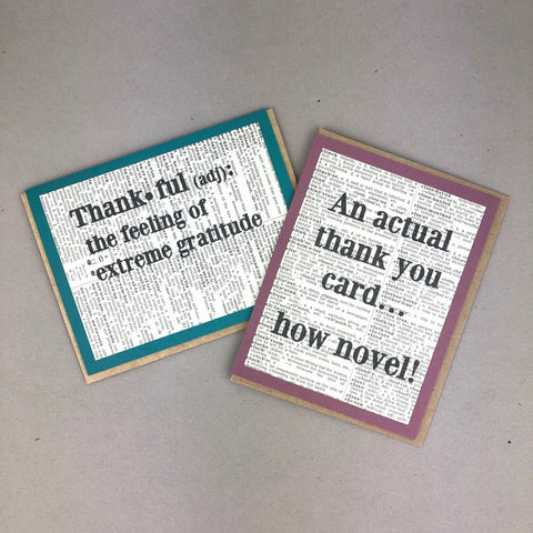 Thank You Cards - Fiction Reshaped