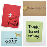 Thank You Cards- Muddy Mouth