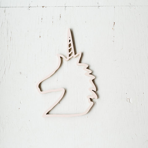 Pink Linen- Unicorn Cutout Wall Decor