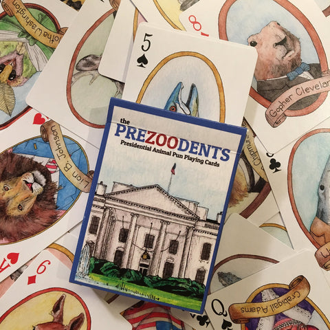 Ah Ha Brands- PreZOOdents Playing Cards