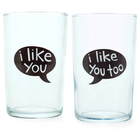Juice Glass- I Like You Talk Bubble