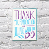 Thank You Cards- Bench Pressed