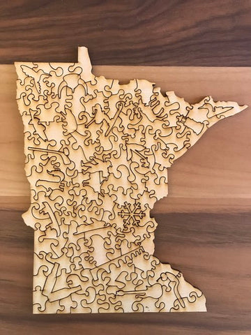 Big Stick Studio- MN Wooden Puzzle