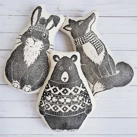 Fox & Fables Woodland Animal Pillows