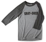 T-Shirt- Gray Duck Baseball Tee