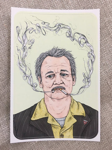 Wes Anderson/Bill Murray Sticker Pack -Stace of Spades