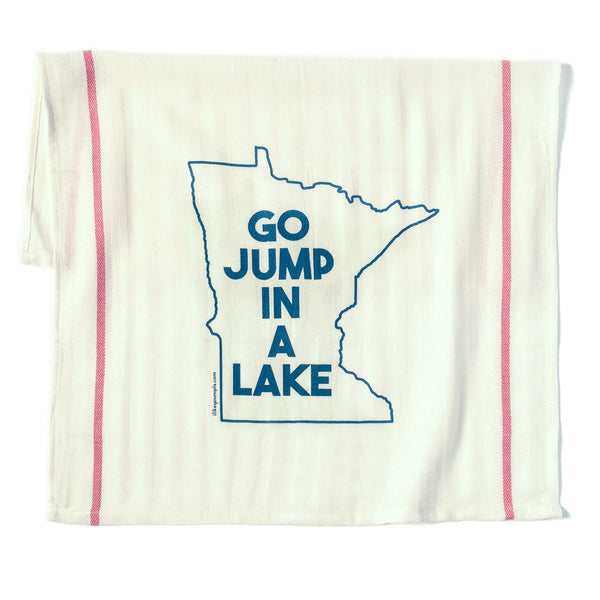 Tea Towel- Jump in a Lake asst colors