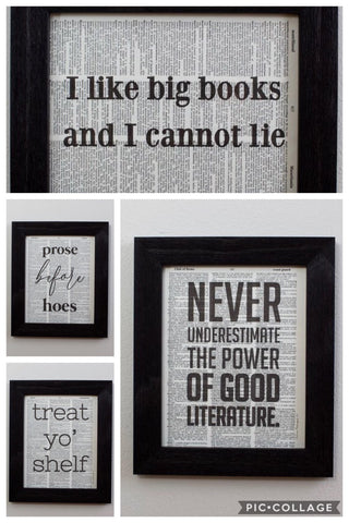 Fiction Reshaped- Literary Prints