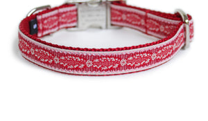 The French Collection Adrien Dog Collar in Red