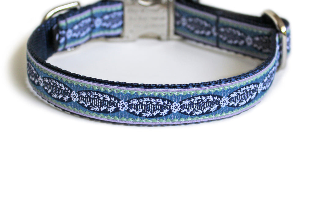 The French Collection Adrien Dog Collar in Blue
