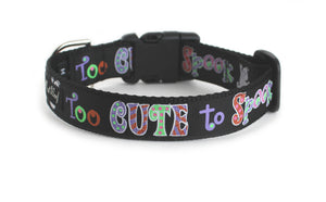 Too Cute To Spook Dog Collar