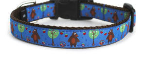 Picking Apples Dog Collar