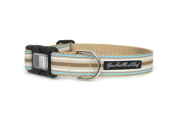 Brentley Striped Dog Collar