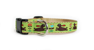 Bunnies Dog Collar