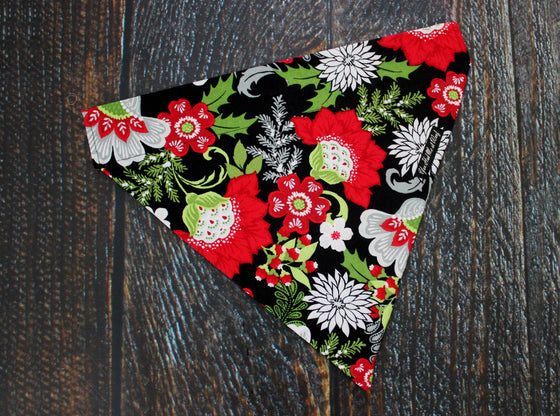 Floral Wonderland Dog Bandana, Over the Collar