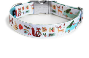 Cottage Christmas Dog Collar