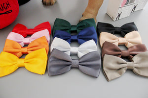 Dog Bow Tie Collar - Custom Fabric Options Available