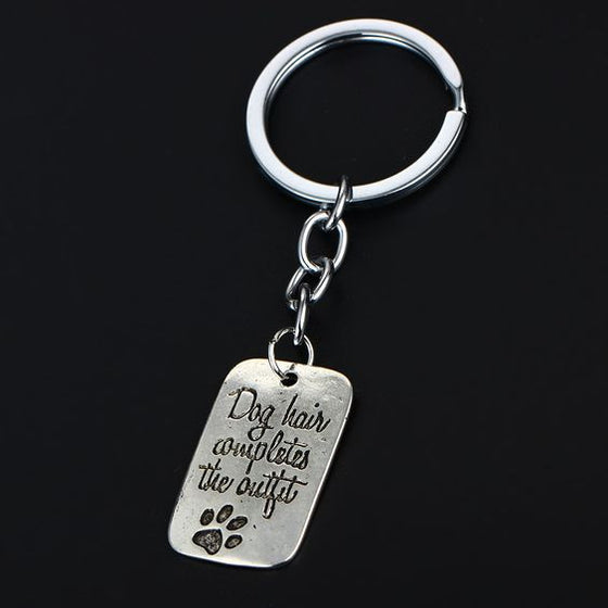 Dog Hair Completes the Outfit Keychain