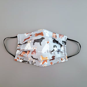 Dogs Fabric Womens Mens Triple Layer Face Mask