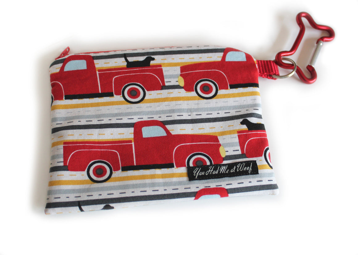 Dogs in Trucks Treat Pouch & Dog Bag Holder