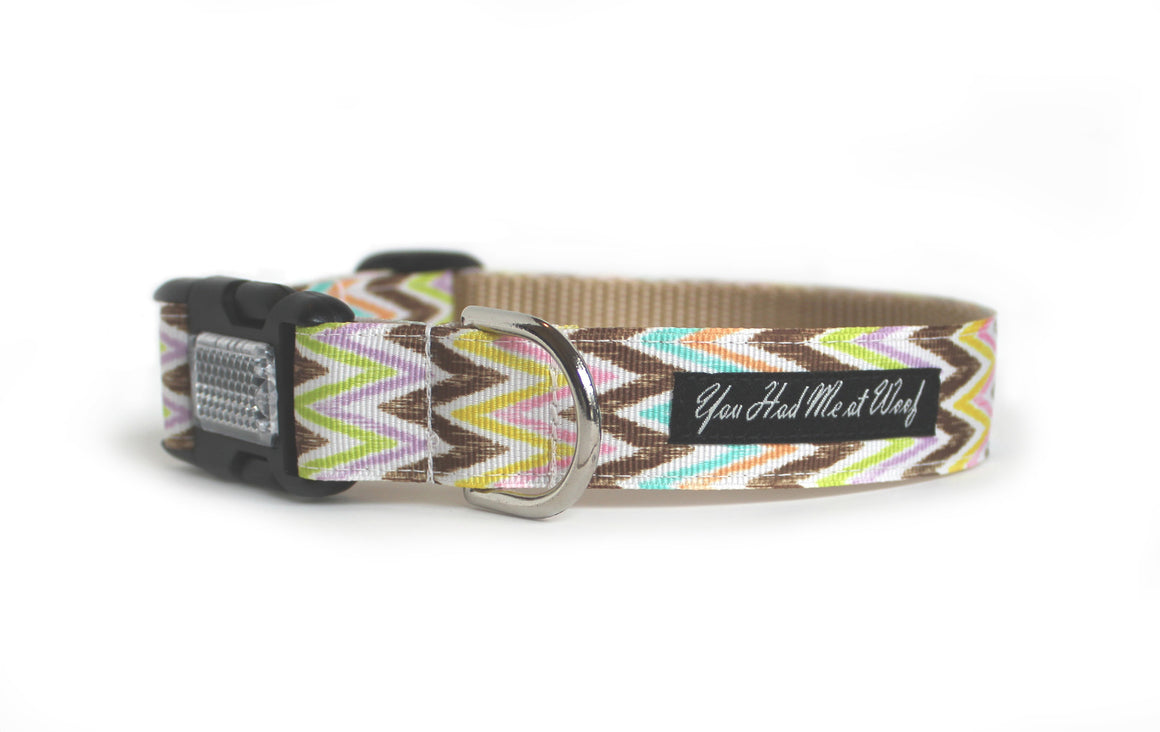 Pastel Ikat Dog Collar