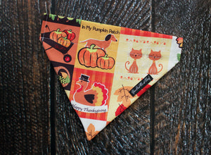 Fall Dog Bandana, Over the Collar