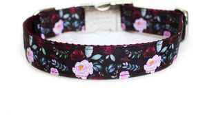 The back of the Fall Floral Dog Collar, showing the pattern repeating along the length of the collar.