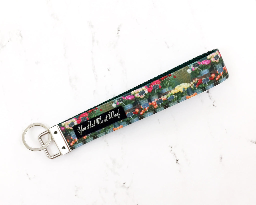 French Flower Shop Key Fob