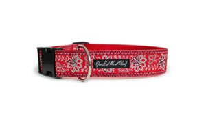 The French Collection Juliette Dog Collar in Red