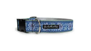 The French Collection Juliette Dog Collar in Blue