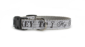 The front of the Key to My Heart Dog Collar.