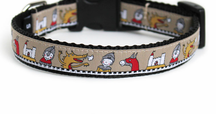 Knights and Dragons Dog Collar
