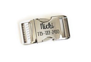 Engraving for Aluminum Buckles