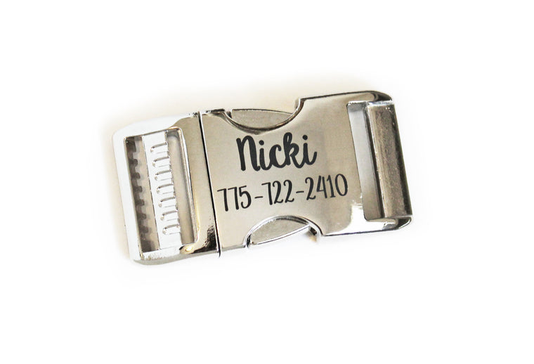 Add an Engraved Aluminum Buckle