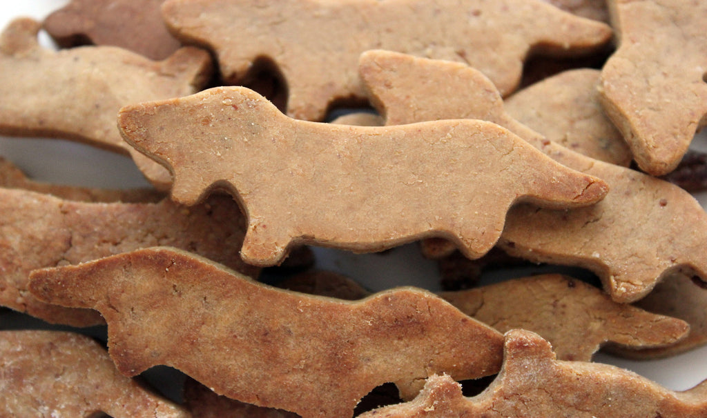 Gluten-free Peanut Butter Dachshund Dog Treats