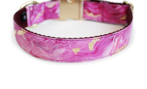The back of the Lovey Dog Collar, displaying the pattern repeating itself along the length of the collar.