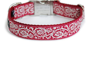 The French Collection Marseille Dog Collar in Red