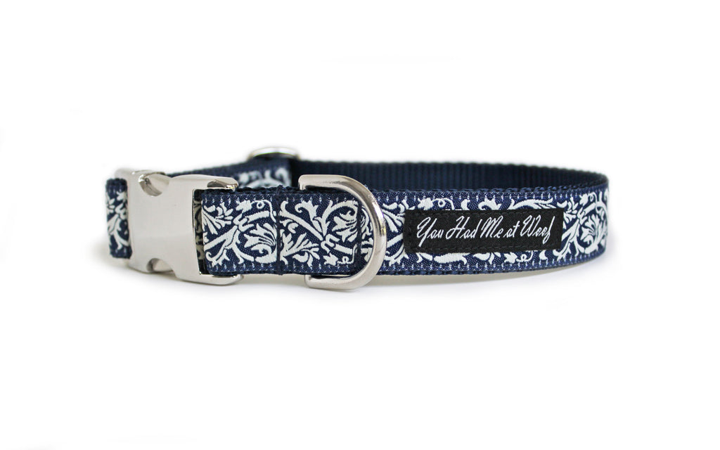 The French Collection Marseille Dog Collar in Blue