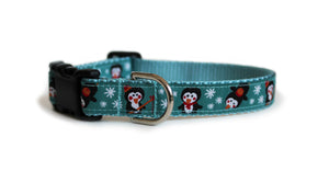 Penguins Fishing Dog Collar