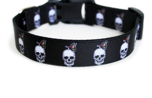 Backside of the Skull Dog Collar, displaying the pattern repeating itself along the collar