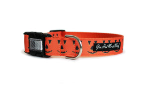 Smiling Pumpkins Dog Collar