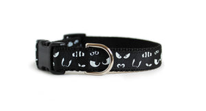 Spooky Eyes Halloween Dog Collar, Glow in the Dark
